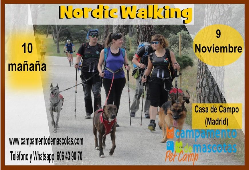 ENTRENAMIENTO DE NORDIC WALKING CON PERRO (CASA DE CAMPO-MADRID) 9 de noviembre